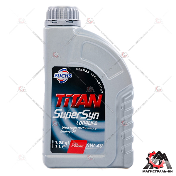 Масло Fuchs моторное TITAN SUPERSYN LONGLIFE 0W40 1л 600889449 (синтетика)